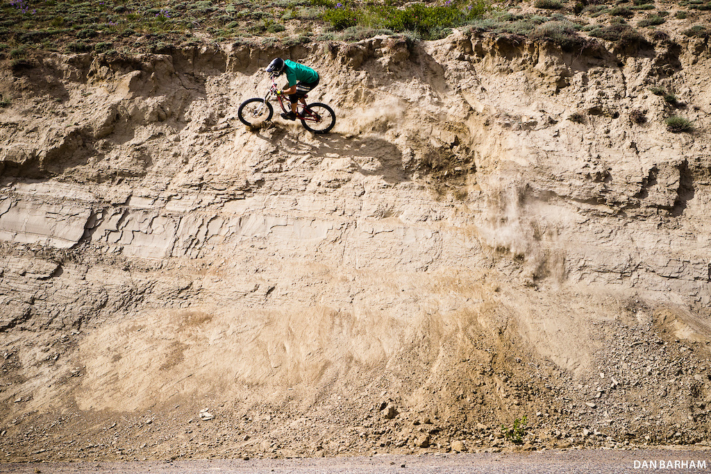 It s not hard to see why Dylan s so at home here - this wall ride might as well be straight out of Kamloops. Dan Barham photo - www.danbarham.com