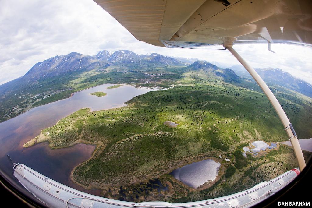 Scoping new lines Yukon style. Dan Barham photo - www.danbarham.com