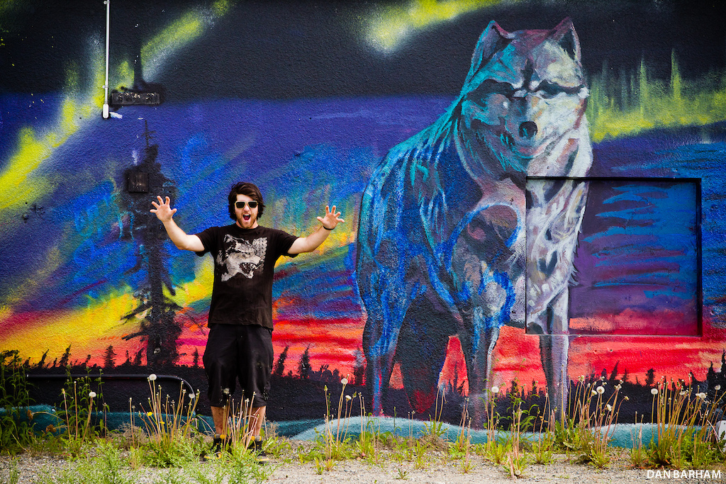 The town of Whitehorse heard Dylan was coming back and made the appropriate arrangements. Dan Barham photo - www.danbarham.com