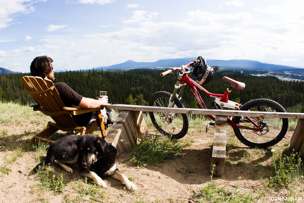 Boreale Mountain Biking s base sits on a bluff overlooking the town of Whitehorse. It s the perfect place to relax and unwind after a day on the trails. Dan Barham photo - www.danbarham.com
