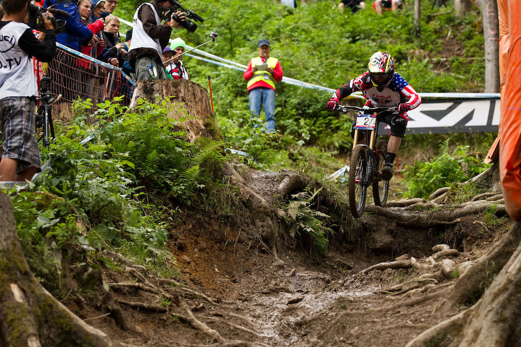 10 June 2011 during the 3rd round of the UCI World Cup Downhill amp 4X in Leogang Austria. Photo by Gary Perkin