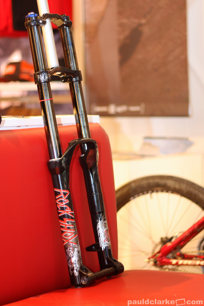 Inside the Sram pop up store. Cam Zink's newly received custom 'slayer' boxxer.