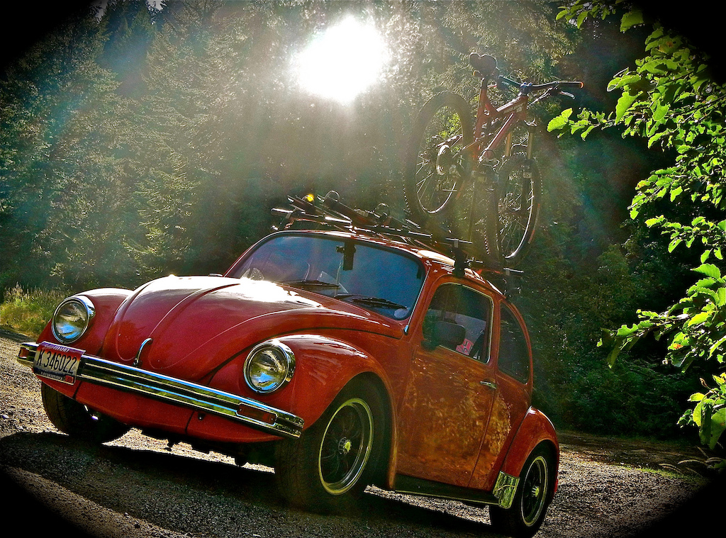 That would be my 1969 Vw and bike! Love em!