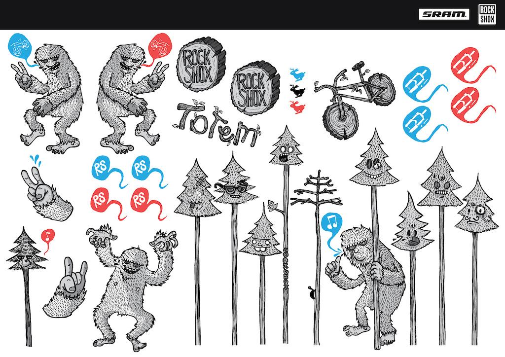 Sasquatch new color full sticker set.