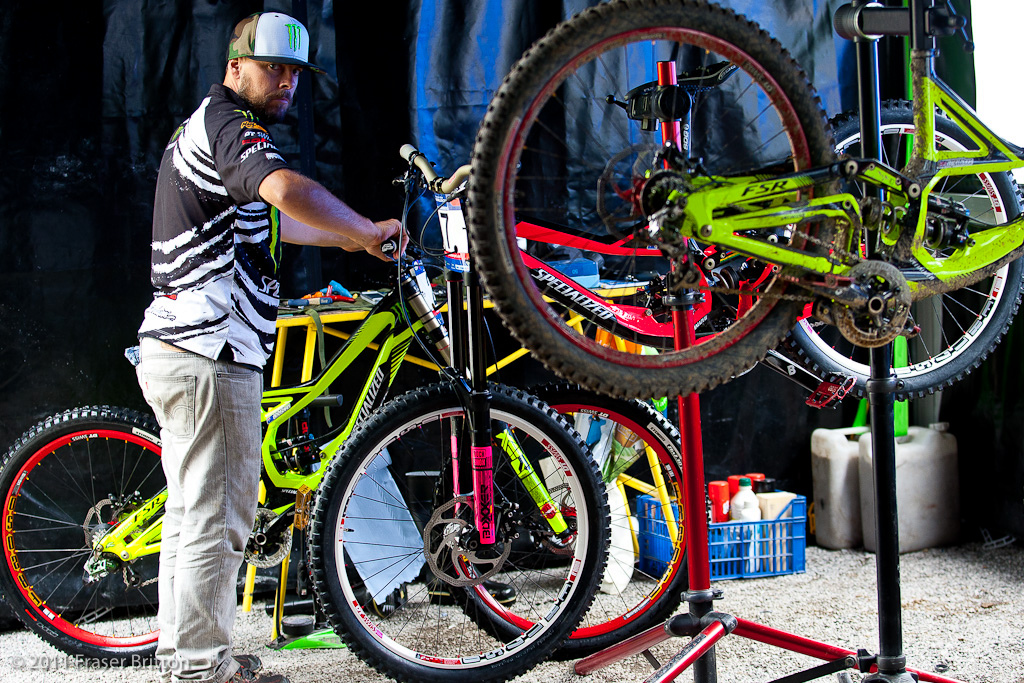 The man that keeps things running around Monster Energy Specialized is arguably Jacy Shumilak. If it s mechanical he has his fingers in it from the bikes to the RV to camera flash repairs.
