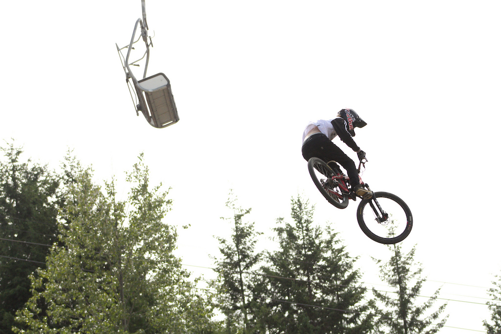 Semenuk flys through the air during the 2011 Red Bull Joyride in Whistler B.C.