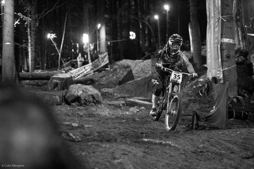 Fionn Griffiths did her qualifying run on her DH bike. I wanted as straight a line as possible. I certainly won t race this bike tomorrow but for qualies it was what I wanted.