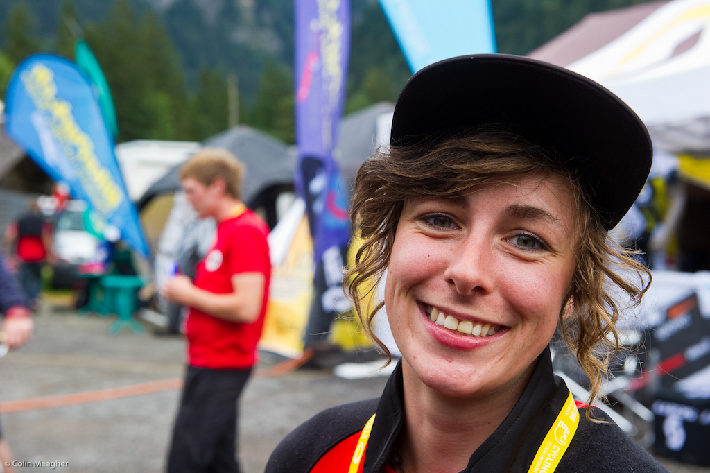 Rain Mud Emmeline Siegenthaler doesn t care for her it ll be clips on race day no matter what. I had no problems today so I won t switch even if it rains from now until the race. Pedal of cholce Shimano DX.