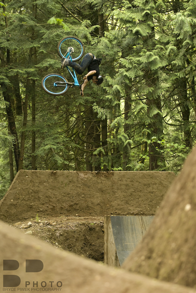 Getting a lil' dumped on his first Dirt Jump day on his new Morpheus back in Late May