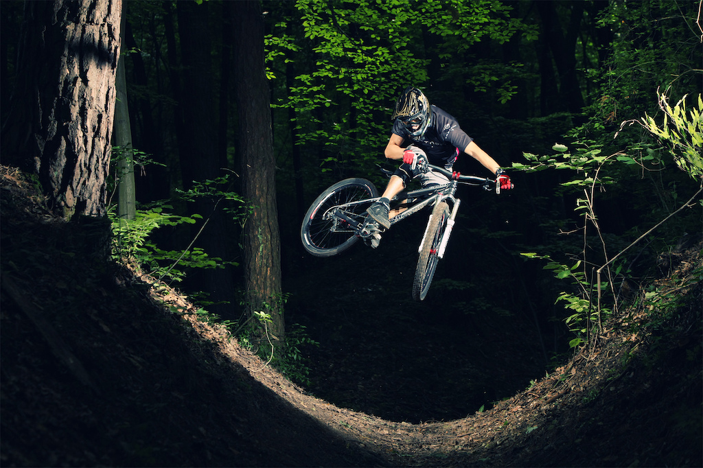 Remek is freeriding with his Phantom in old forests near Zamo . Photo by Micha Grela - http michalgrela.pl. http dartmoor-bikes.com