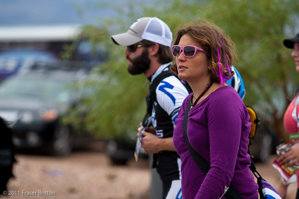 Even big name DH pros come out to Dirt Demo. Sabrina Jonnier was lurking all day meeting greeting and generally enjoying the desert.