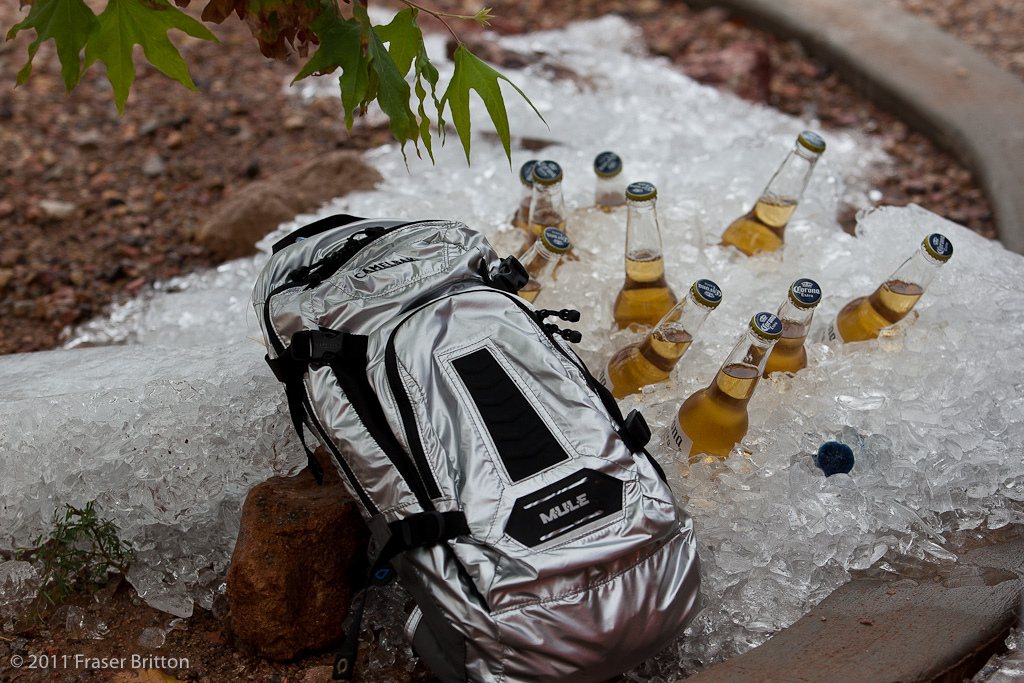 Of course some people aren t into fancy hydration drinks. Beers on ice on the sand.