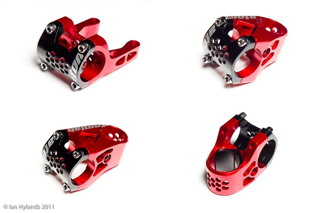 Atomlab American Series stems designed by Pablo Tafoya. The direct mount is flippable and the radial mount stems come in 38mm and 50mm. All are designed to fit 1.125 steertubes and 31.8 bars.