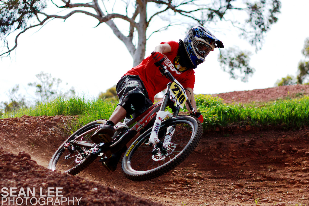 Jacko cranking it out of a loose corner