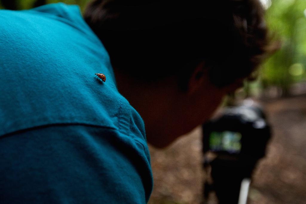 Nico so deep into his shot that he didn t notice this ladybird on his shoulder Photo by Szymon Nieborak delayedpleasure.com