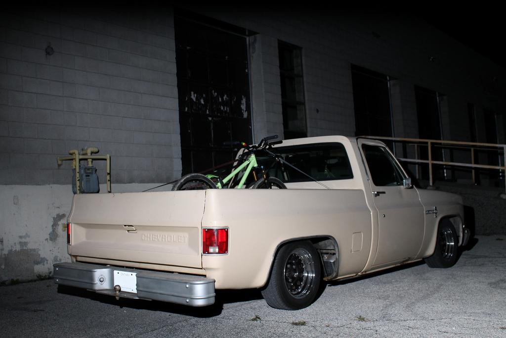 My new unrat rod. 85 Chevy C-10 on air ride. I love this truck. Shuttle rig.