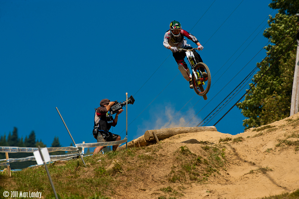 Brendan Fairclough over the famous hip at Mont-Sainte-Anne during 2010 World Championships.