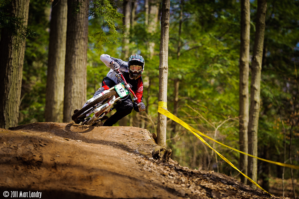 Josh Toohill scrub during 2011 O-Cup DH at Kelso.