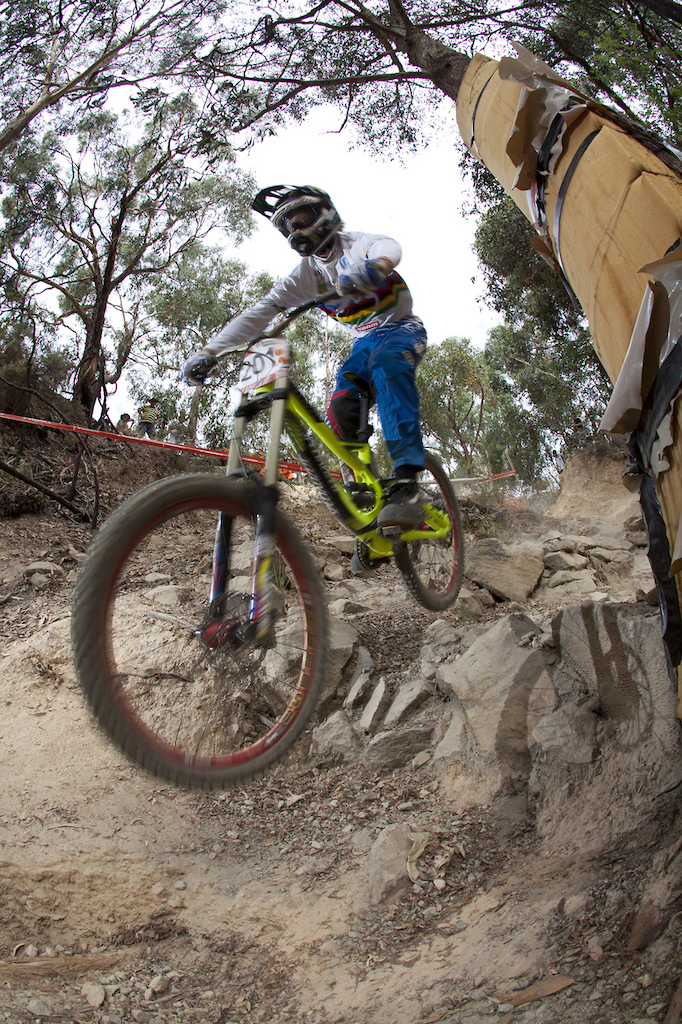 2011 Australian National Champs, TB sending it through the gnarly rock garden