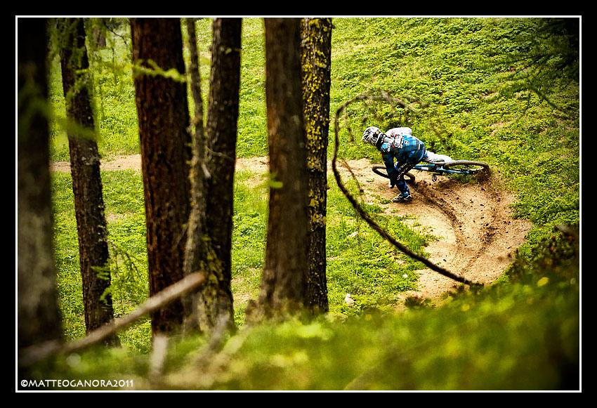 Dan drifting hard in Alpi Bike Resort