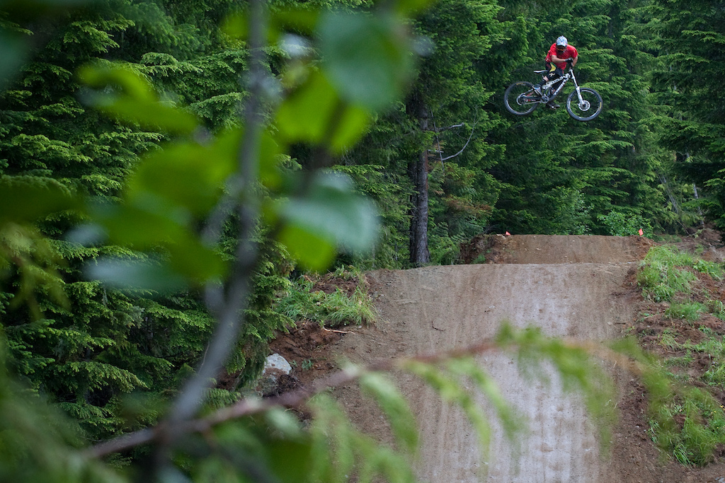 R-Dog getting sideways the crab apple hits in Whistler. Photo of the year submission. Justin Olsen Deep Summer 2011