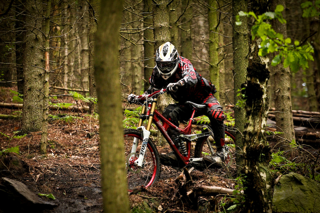 Jack demonstrates his 'different' riding style on a typically wet wharncliffe day earlier this year