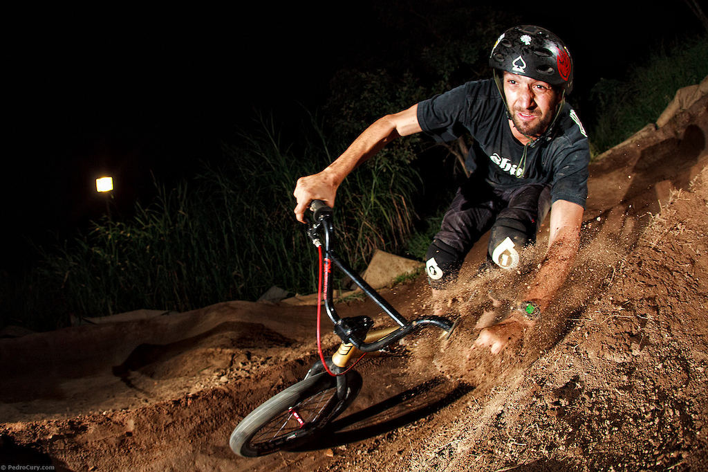 Pump Track BMX Action at rider´s made track