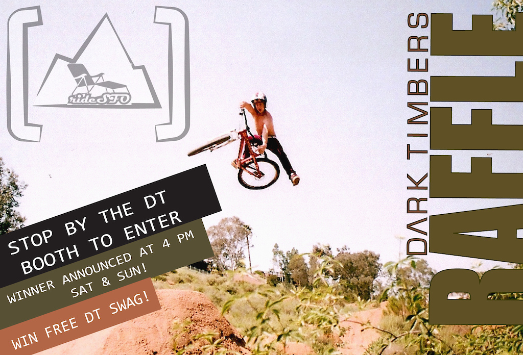 PT. 2 of rideSFO and Dark Timbers contests coming your way NOV 12+13 at the Rife SFO Expo: THE DT RAFFLE.  Stop by the DT booth anytime to enter your name in the DARK TIMBERS raffle- winners posted at 4pm SAT and SUN. WIN FREE DT SWAG! See you there!