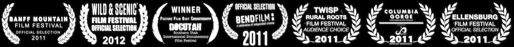 Pedal-Driven film festival laurels inverted