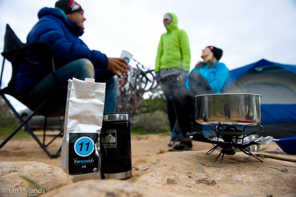Katrina Strand Brook Baker and Ian Hylands camping in Utah.