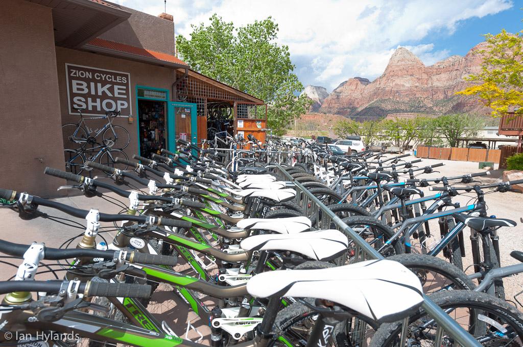 Zion Cycles bike shop in Springdale Utah