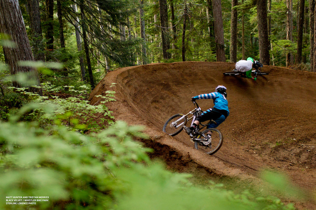 the new Black Velvet trail in the Whistler Bike Park