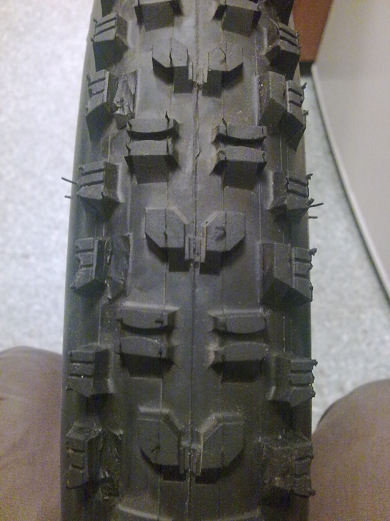 Minion DHR cut for better cornering grip