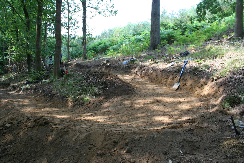 Part of a New climb for Freeminers Trail