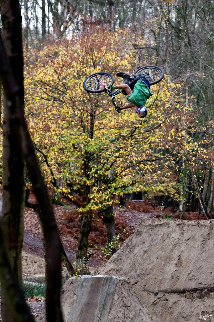 Flatspin by Dartmoor/Red Bull rider Szymon Godziek with his Cody 2 at Lymington dirts. Photo by Szymon Nieborak - www.delayedpleasure.com.