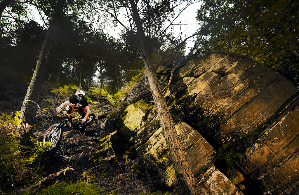 Scratchmere Scar, situated in Cumbria UK is home to a vast array of steep, tech and fast trails. Amidst the trees lay a fresh track that wasn't finished. The shoot, photo'd here was mega steep, loamy, loose and fast!   Scratchmere Scar is defiantly worth a look!   samneedham.co.uk