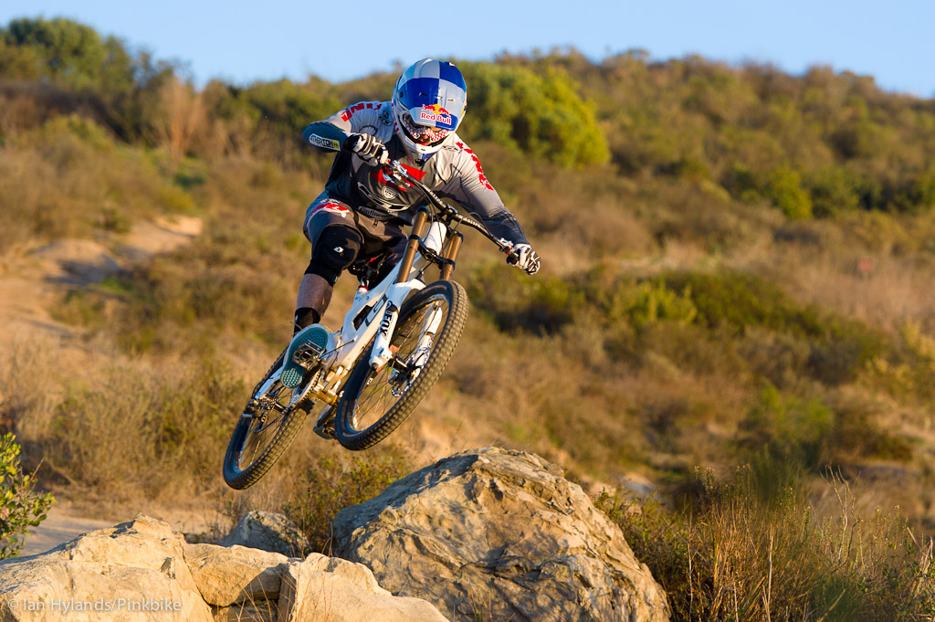 Gee Atherton rides his new GT Fury near Laguna Beach California