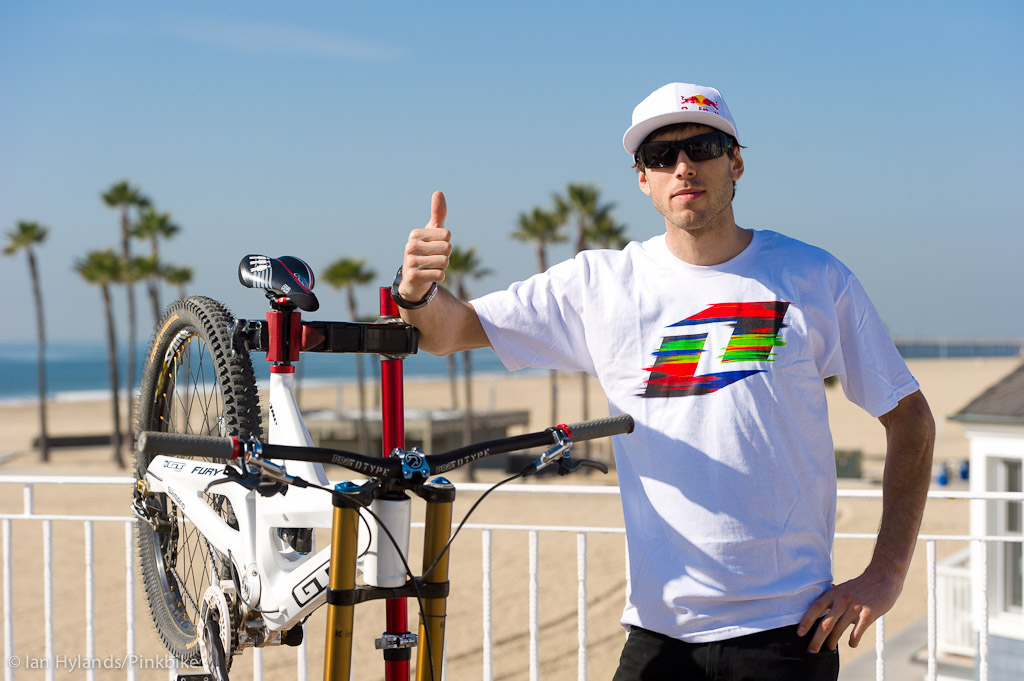 Gee Atherton gives the GT Fury a thumbs up