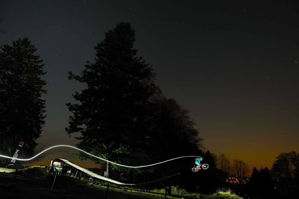 Night time freeriding in November down at Sammerberg bike park.