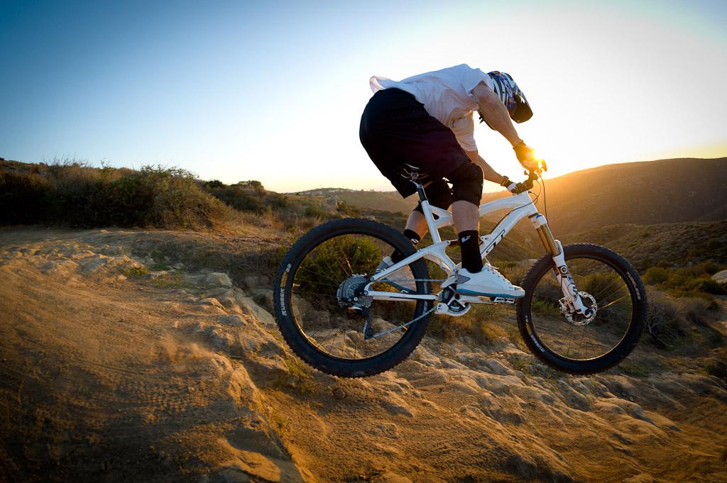 Dan Atherton rides his new GT near Laguna Beach California