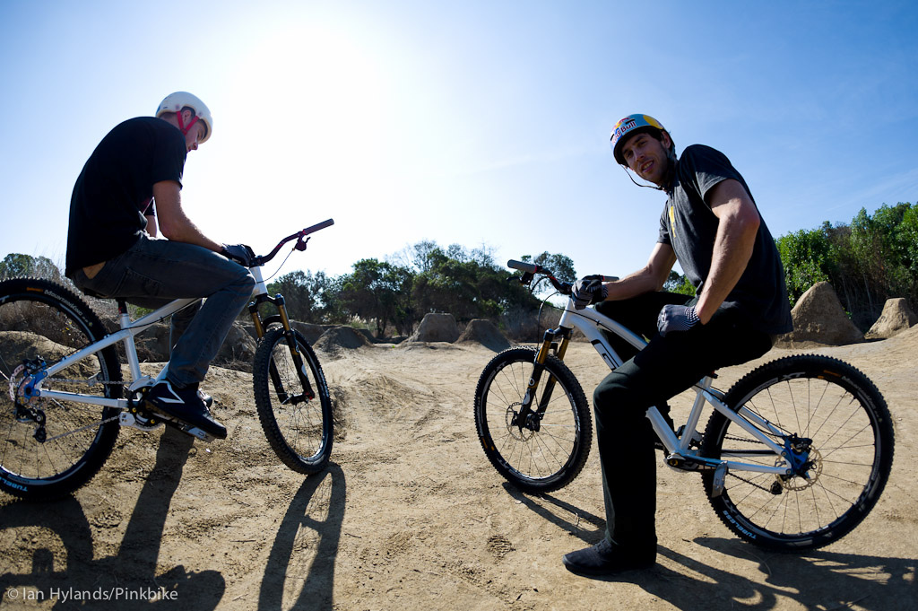 Dan and Gee Atherton ride at Sheep Hills in California