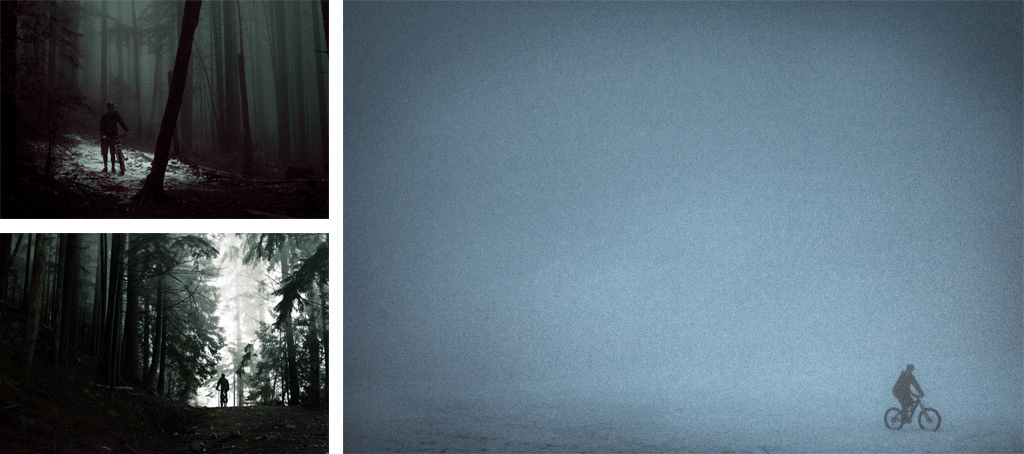 Light patch in the woods foggy corridor trapped in a white room.