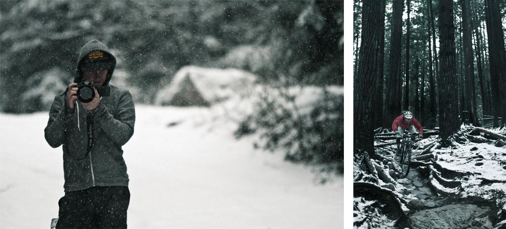 Snowy filming.