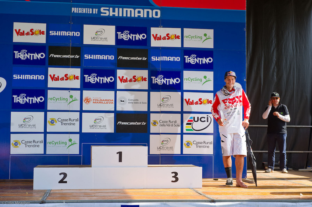 Despite having to sit out the finals at Val di Sole, Steve still accumulated enough points to take fifth overall for the 2011 World Cup.