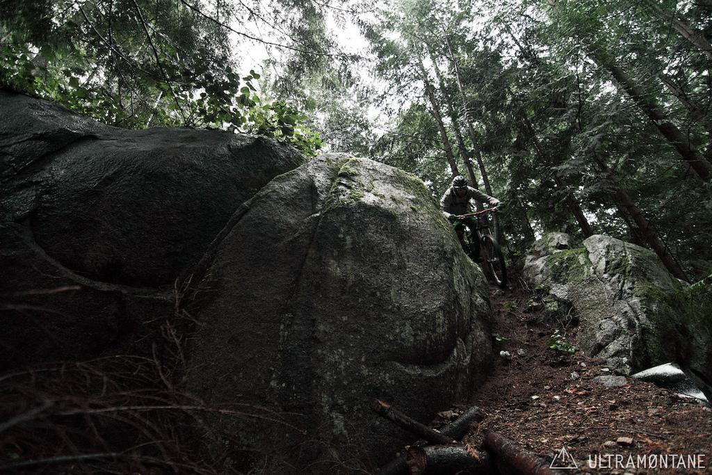 Rock chute.