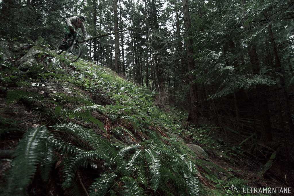 Steep rock in the wet... I heard the way to ride this is Just f*ckin putz it
