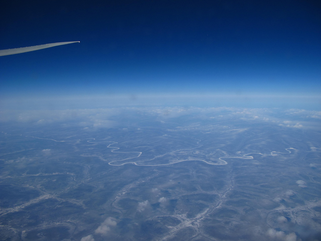 somewhere over Russia...