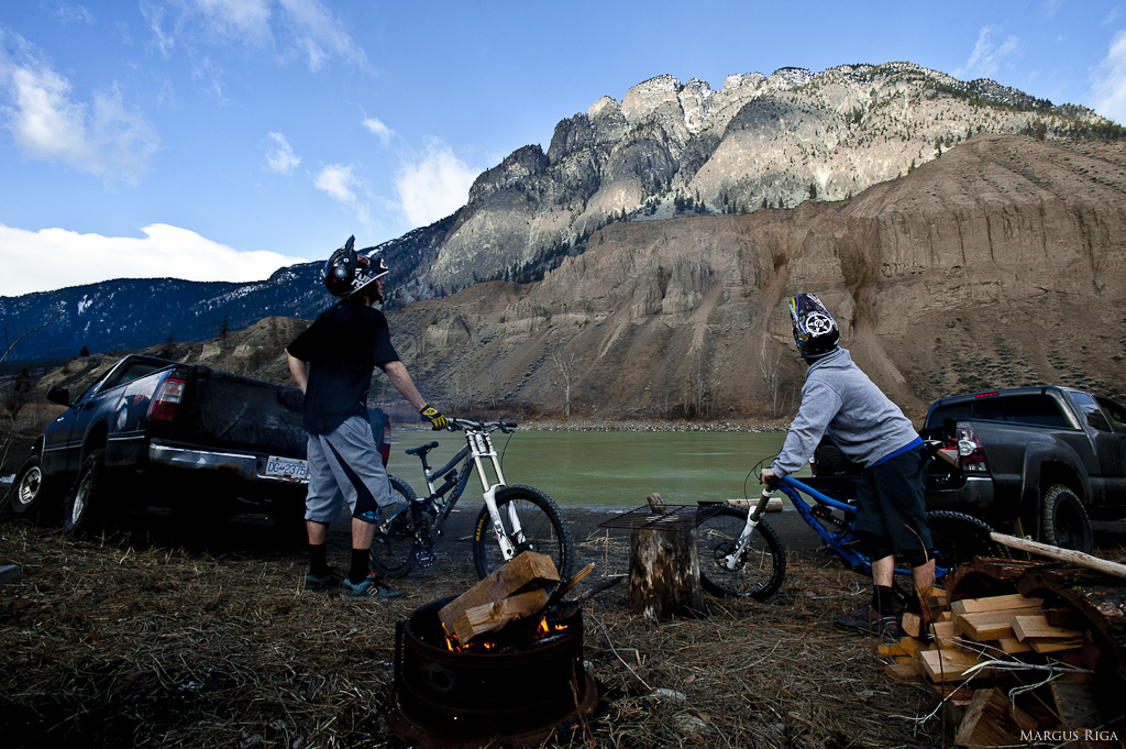 James Doerfling and Garett Buehler in Spences Bridge with Margus Riga.