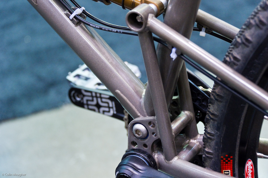 As a single pivot (and a URT at that). the bike has a pivot point optimized for a typical middle ring.