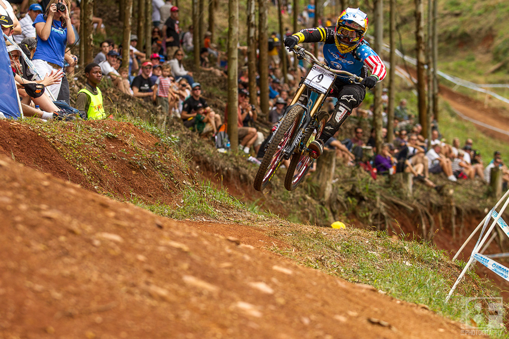 Jill Kintner scored her first World Cup DH podium ever with a 4th place at the Pietermaritzburg UCI World Cup DH